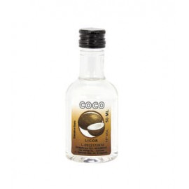 Botella Licor COCO, 50 ML plástico