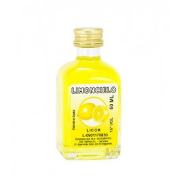 Botella cristal  Licor LIMONCELLO, 50 ML