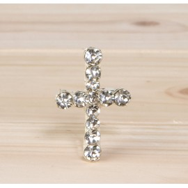 Broche Cruz de strass