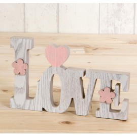 Decoracion madera LOVE,20 cm.